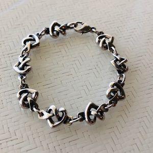 Retired James Avery Heart Knot Bracelet